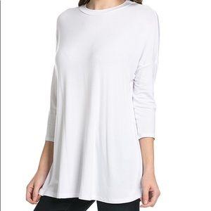 White Half Sleeve Top